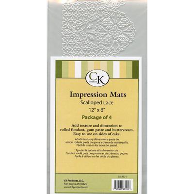 CK Scalloped Lace mat 4 stk