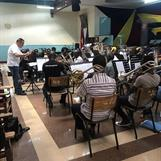 Rehearsal with the Nairobi Central Corps Band