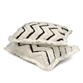 Classic Collection Camden Cushion Cover, White/Black