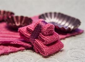3 handdukar Rosa miniatyr