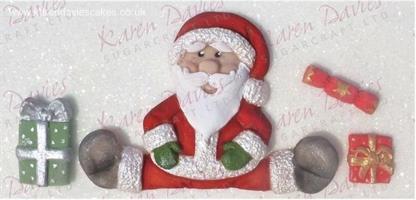 Silikonform Sittende Julenisse KD