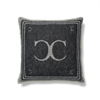 Classic Collection Monogram Cushion Cover, Black