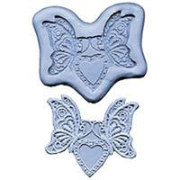 Silikonform Lace CK Butterfly Heart