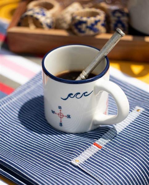 Blue Sea Mug, White