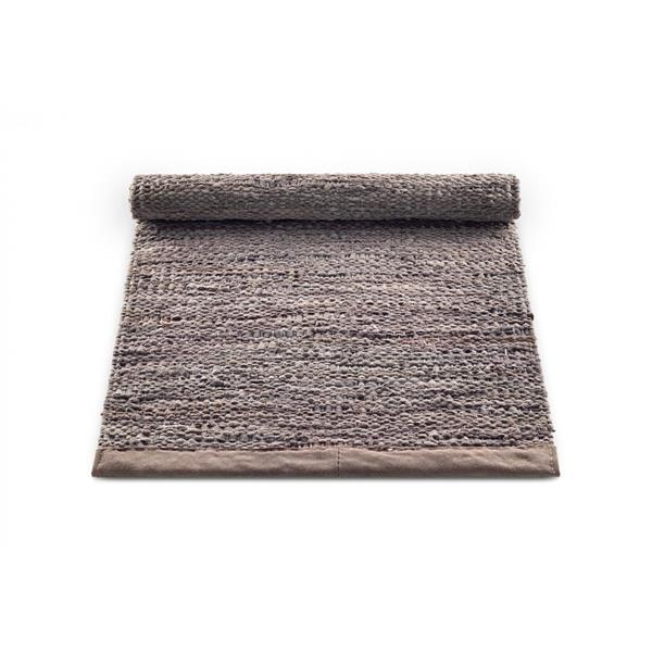 Rug Solid Nahkamatto, Wood 60 x 90 cm