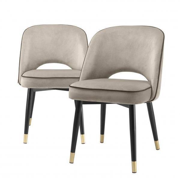 Eichholtz Dining Chair Cliff Greige, Set of 2