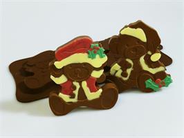 Silikonform sjokolade Julebamse 2 stk