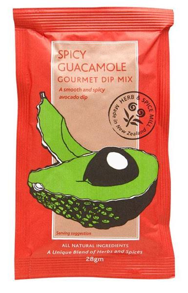 Spicy Guacomole Dip 28g