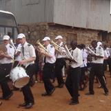 Marching in Kibera