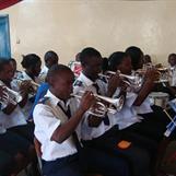 Kibera band playing for us