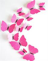 Sommerfugler 12stk Rosa