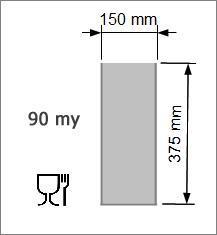 Vakuumpåse 150 x 375 mm, 90 my