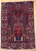 19091 Afghansk bedeteppe 126 x 86