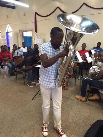 New Eb Tuba for Kibera Citadel Band