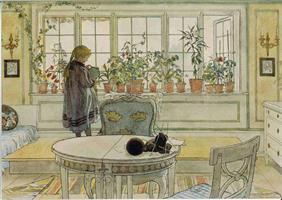Vykort Blomsterfönstret