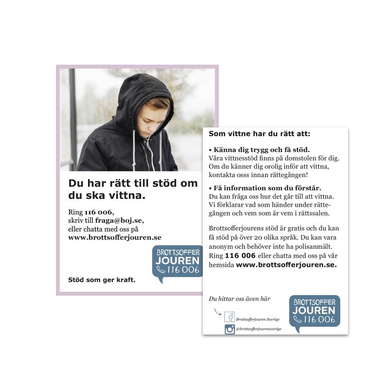 Informationskort A7 - Unga vittna