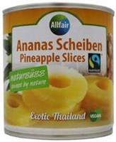 Ananasrenkaat 425 g, luomu