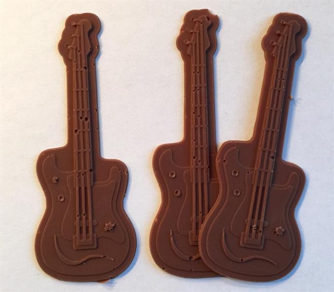 Silikonform sjokolade Gitar
