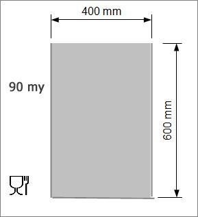 Vakuumpåse 400 x 600 mm, 90 my