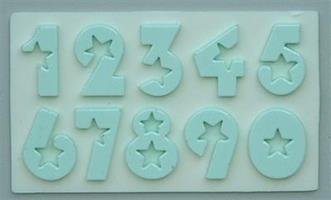 Silikonform AM Numbers Stars 18mm (AM093)
