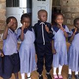 Our sponsored children at Kibera Nursary School