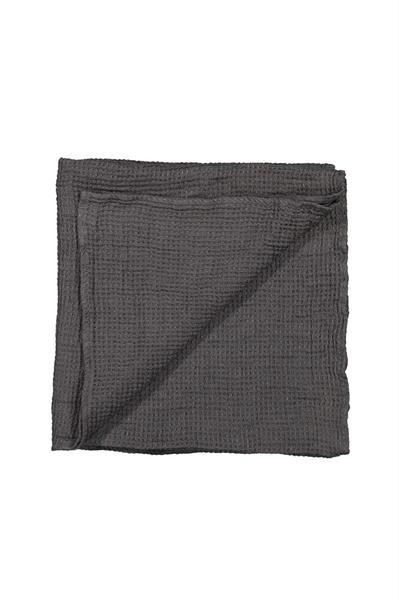 Balmuir Capri linen waffle towel, 45 x 100 cm, grey