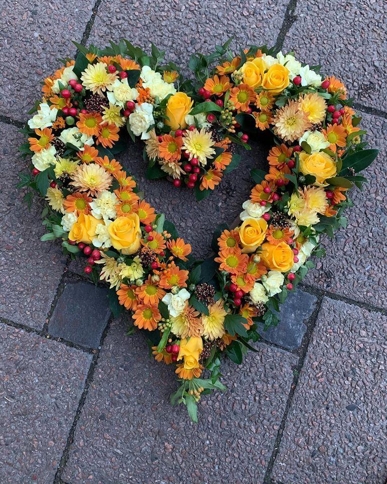 Öppet hjärta i höstens mustiga färger