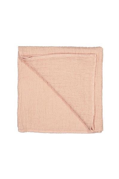 Balmuir Capri linen waffle towel, 70 x 140 cm, Blush