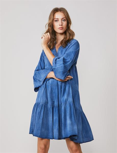 Summum Woman Wide Denim Dress, Indigo