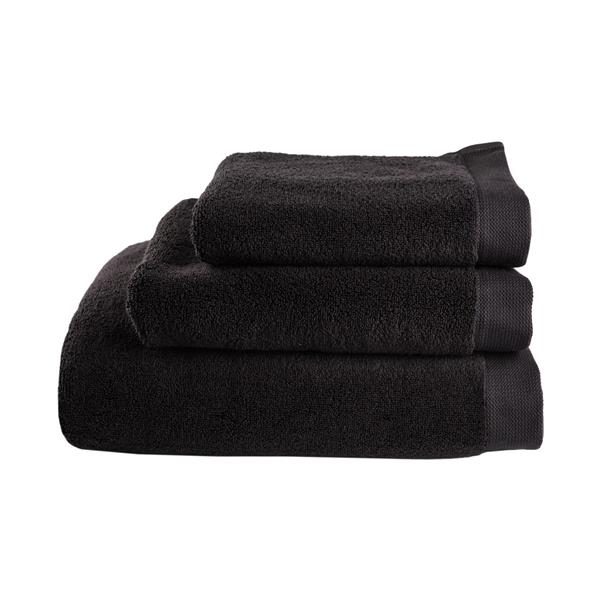 Balmuir Lugano Towel, 50 x 70 cm, Black