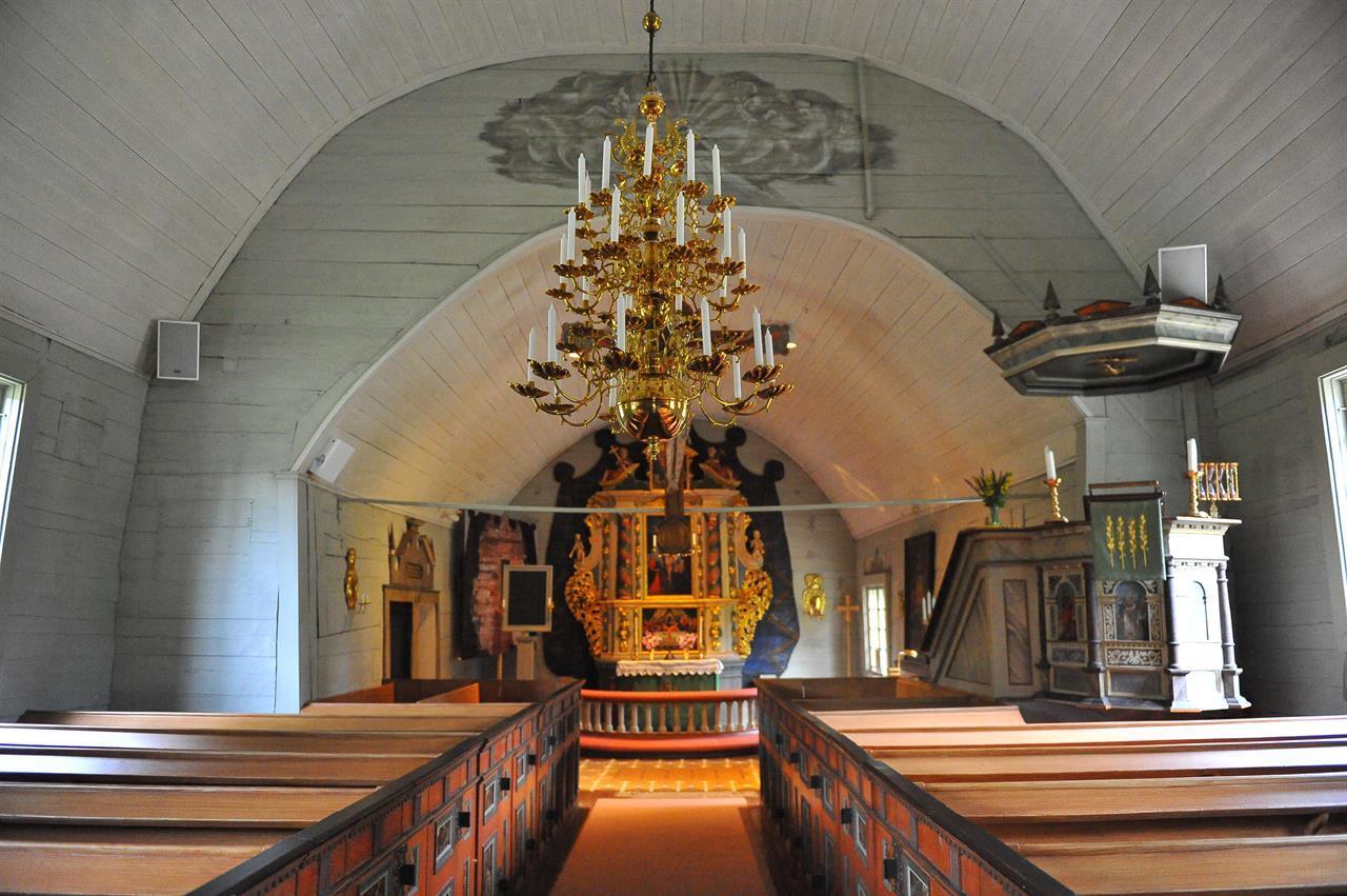 Interiörbild från Tångeråsa kyrka