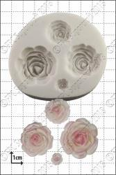 Silikonform Blomst Roser, sett FPC