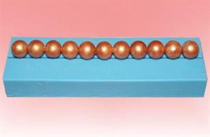 Silikonform Perlebord, rund perle