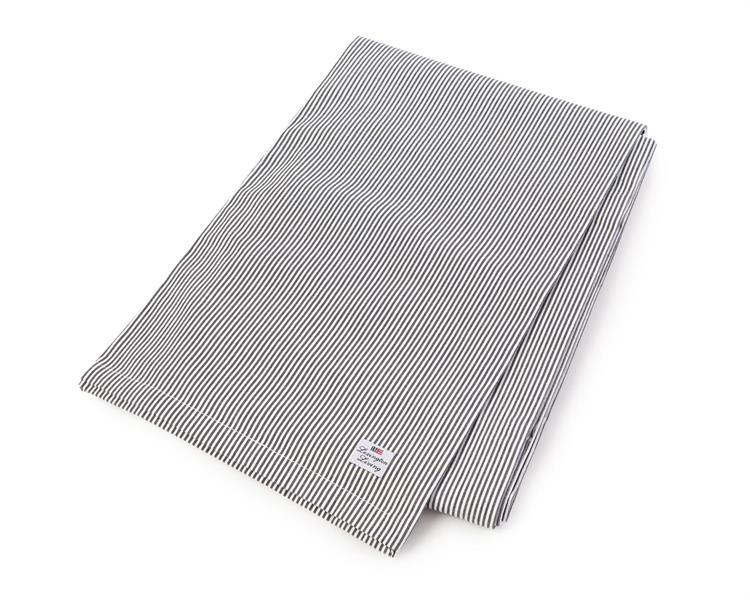 Lexington Oxford Dark Gray/White Striped Tablecloth, 150 x 210 cm