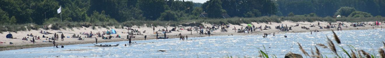 Bild över Farhults strand.