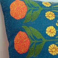 Kuddöverdrag Blomsterharen blå