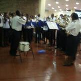 2012 Kibera Band at the Airport - playing for us