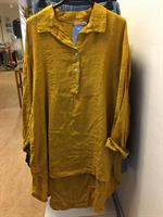 Frackskjorta i linne Saffran one size