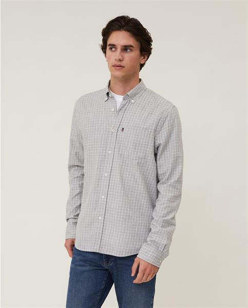 Lexington Peter Light Flannel Shirt, Gray/White Check