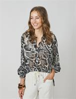 Summum Woman Blouse with snake print, Black