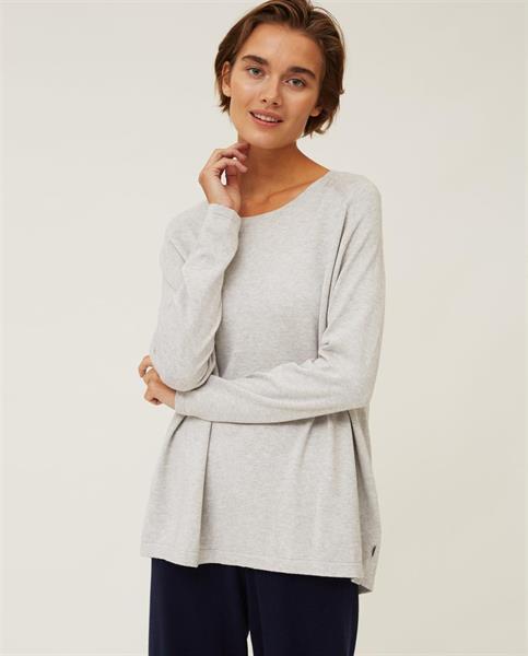 Lexington Lea Cotton/Cashmere Sweater, Gray Melange