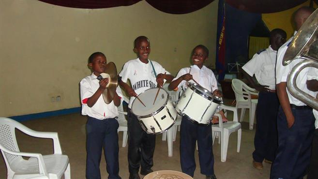 Young percussion section