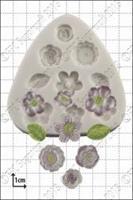 Silikonform Assorterte blomster FPC
