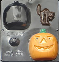 Plastform Halloween Gresskar 3D Katt