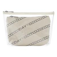 Day Canvas Transparent Pouch, Moonlight Beige