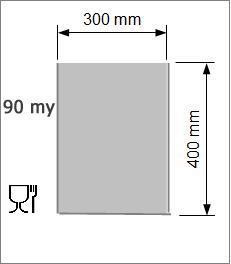 Vakuumpåse 300 x 400 mm, 90 my