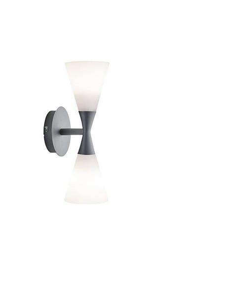 Vägglampa Harlekin duo grafitgrå Herstal