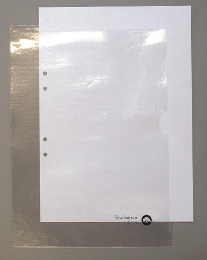 Aktmapp, transparent plast 0,12 mm