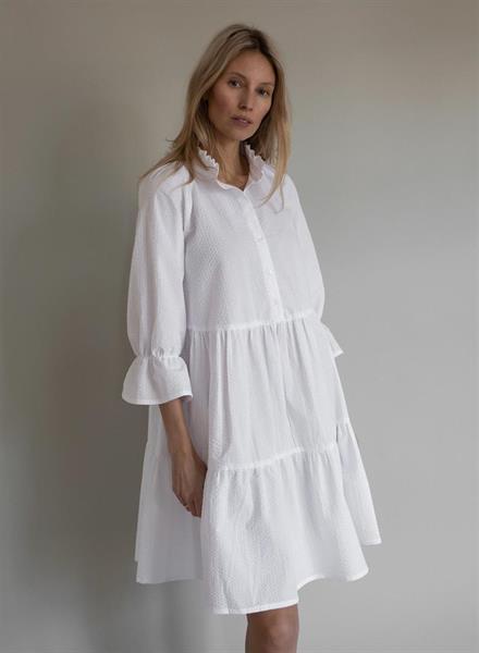 Gauhar Ruffled Dress, White