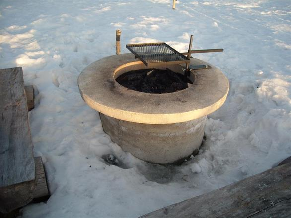 Fäste för cementring med bordsskiva